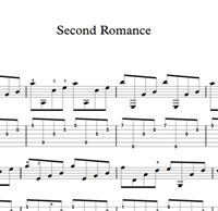 Picture of Second Romance Sheet Music & Tabs